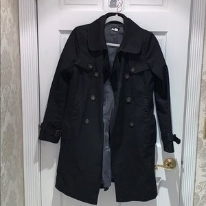 Jcrew trenchcoat in black without belt